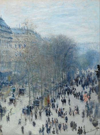 Claude Monet, Boulevard des Capucines (1873 – 1874), The Nelson-Atkins Museum of Art, Kansas City