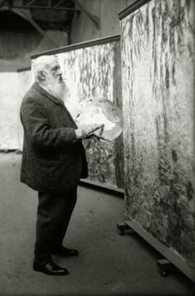 Félix Nadar, Claude Monet al lavoro alle Ninfee (1899)