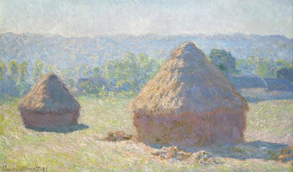 Claude Monet, Meules, fin de l'été, effet du matin (1891). Musée d'Orsay, Parigi