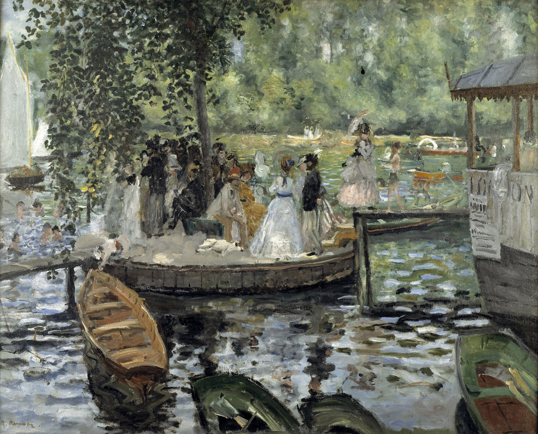 1869   Renoir, La Grenouillere (Nationalmuseum, Stoccolma)