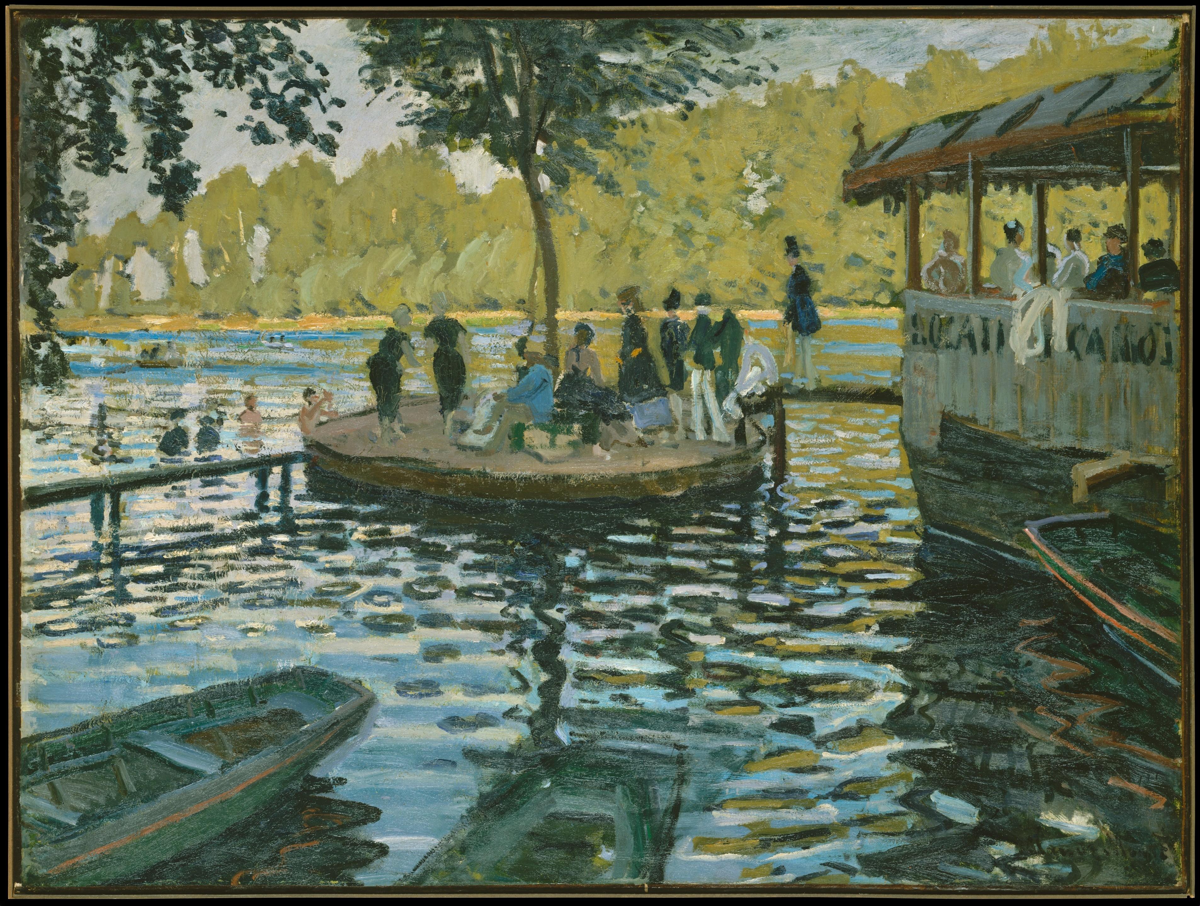 1869   Monet, La Grenouillère (Metropolitan, New York)